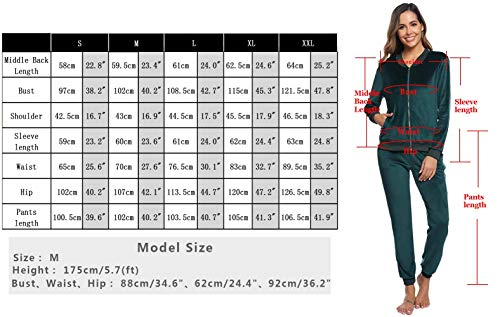 Abollria Women Tracksuits Velour 2 Piece Sweatsuit Top and Bottom Casual Loungewear Joggers Set 5