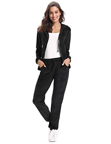 Abollria Womens Pyjama Set Loungewear Long Sleeve Fleece Velvet Winter Tracksuits Jogging Sportwear 3