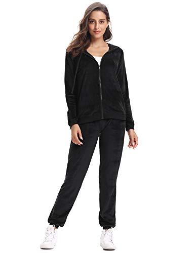 Abollria Womens Pyjama Set Loungewear Long Sleeve Fleece Velvet Winter Tracksuits Jogging Sportwear 4
