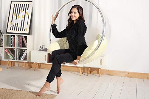 Abollria Womens Pyjama Set Loungewear Long Sleeve Fleece Velvet Winter Tracksuits Jogging Sportwear 5