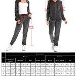 Abollria Womens Pyjama Set Loungewear Long Sleeve Fleece Velvet Winter Tracksuits Jogging Sportwear 23