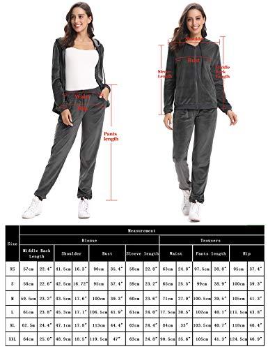 Abollria Womens Pyjama Set Loungewear Long Sleeve Fleece Velvet Winter Tracksuits Jogging Sportwear 8