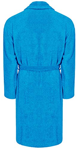 Adore Home Mens and Ladies 100% Cotton Terry Toweling Shawl Collar Red Bathrobe Dressing Gown Bath Robe 4