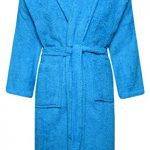 Adore Home Mens and Ladies 100% Cotton Terry Toweling Shawl Collar Red Bathrobe Dressing Gown Bath Robe 11