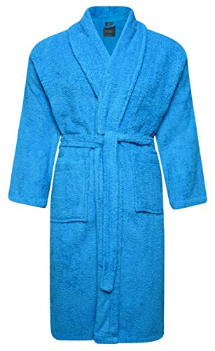Adore Home Mens and Ladies 100% Cotton Terry Toweling Shawl Collar Red Bathrobe Dressing Gown Bath Robe 1