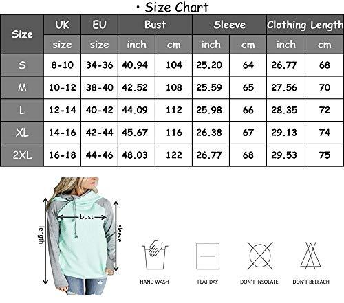 Aitos Womens Hoodies Long Sleeve Jumper Colorblock High Neck Sweatshirt Pullover Sweater Coat Pocket 4