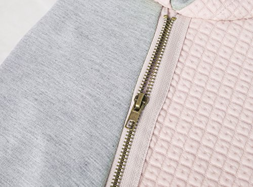 Aitos Womens Hoodies Long Sleeve Jumper Colorblock High Neck Sweatshirt Pullover Sweater Coat Pocket 5