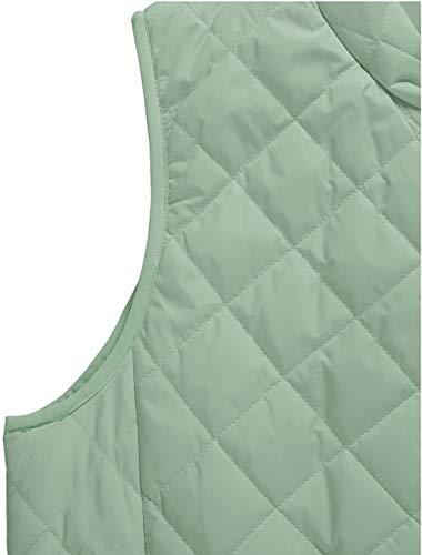 Allegra K Women's Body Warmer Stand Collar Lightweight Quilted Zip Jacket Gilet 5