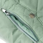 Allegra K Women's Body Warmer Stand Collar Lightweight Quilted Zip Jacket Gilet 19