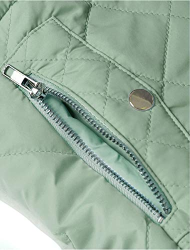 Allegra K Women's Body Warmer Stand Collar Lightweight Quilted Zip Jacket Gilet 6