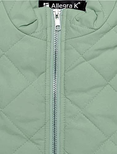 Allegra K Women's Body Warmer Stand Collar Lightweight Quilted Zip Jacket Gilet 7