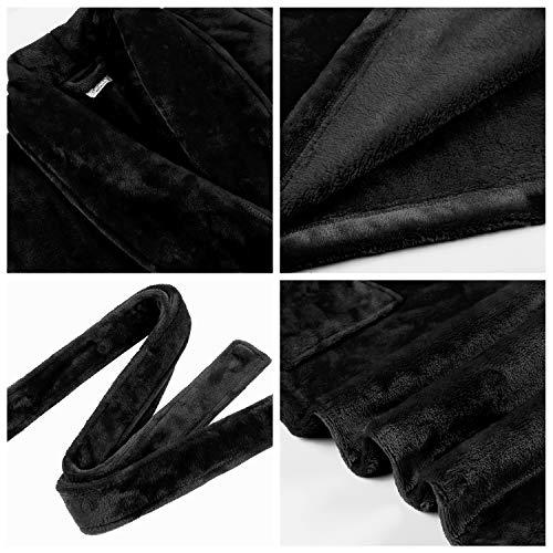 Amorbella Womens Fleece Dressing Gown Plush Warm Robe 4