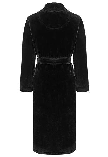 Amorbella Womens Fleece Dressing Gown Plush Warm Robe 5