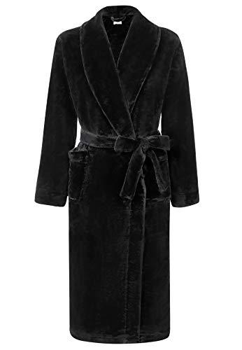 Amorbella Womens Fleece Dressing Gown Plush Warm Robe 7