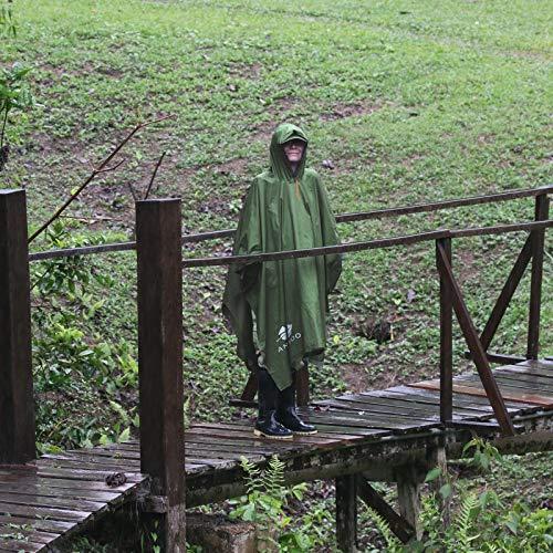 Anyoo Waterproof Rain Poncho Lightweight Reusable Hiking Rain Coat Jacket with Hood for Outdoor Activities 8