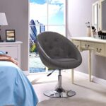 Armchair Club Chair Lounge Chair Faux Leather Dining Chair Height Adjustable Colour Selection WY-509A, colour:light grey… 24