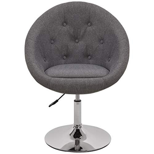Armchair Club Chair Lounge Chair Faux Leather Dining Chair Height Adjustable Colour Selection WY-509A, colour:light grey… 7