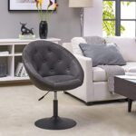 Armchair Club Chair Lounge Chair Faux Leather Dining Chair Height Adjustable Colour Selection WY-509A, colour:light grey… 28