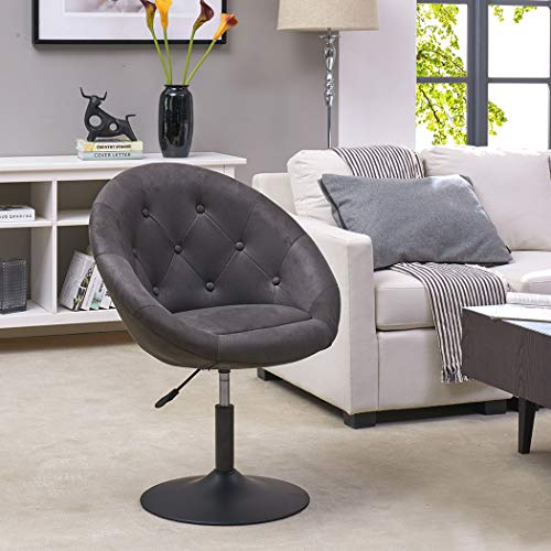 Armchair Club Chair Lounge Chair Faux Leather Dining Chair Height Adjustable Colour Selection WY-509A, colour:light grey… 9