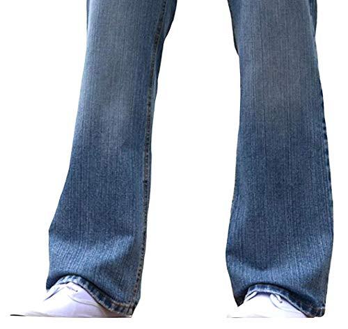 BNWT Men's Wide Leg Bootcut Flared Blue Heavy Denim Jeans 4