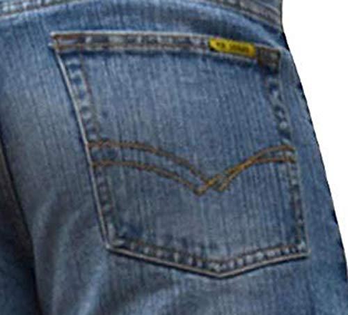 BNWT Men's Wide Leg Bootcut Flared Blue Heavy Denim Jeans 5