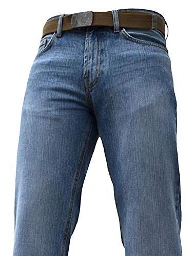 BNWT Men's Wide Leg Bootcut Flared Blue Heavy Denim Jeans 8