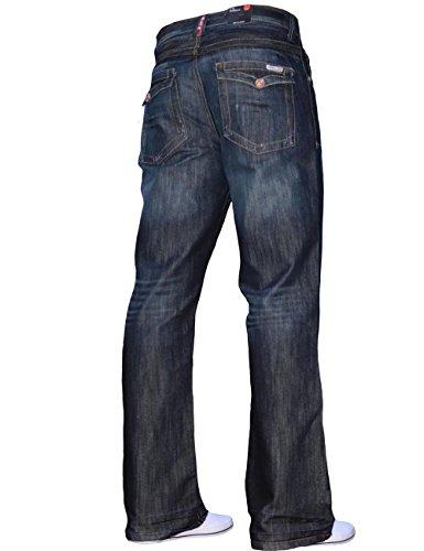 BNWT New Mens Bootcut Flared Big King Size Wide Leg Blue Denim Jeans All Waist 3