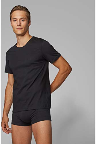 BOSS Mens T-Shirt RN 3P CO Three-Pack of Underwear T-Shirts in Cotton 3