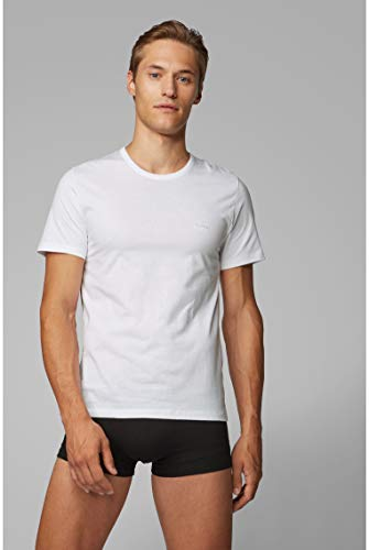 BOSS Mens T-Shirt RN 3P CO Three-Pack of Underwear T-Shirts in Cotton 4