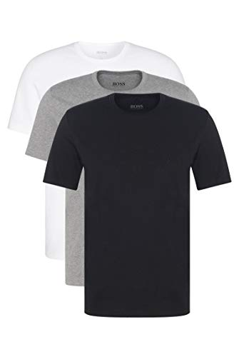 BOSS Mens T-Shirt RN 3P CO Three-Pack of Underwear T-Shirts in Cotton 1