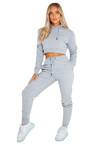Bahob® Women's Sportswear Set Women Tracksuit Hoodie Crop Top and Pants Joggings Fitness Set 1