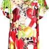 Be Jealous Women's Christmas d Turn Up Sleeve Xmas Candy Nose Snowflake T Shirt Top 3