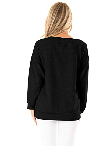 Blooming Jelly Womens Casual Sweatshirts Long Sleeve Tshirts Off The Shoulder Tops Heart Print Pullover 5