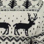 Broken Standard Mens Reindeer Festive Fairisle Zip Funnel Neck Christmas Jumper 11