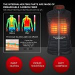 CONQUECO Heated Vest Slim Fit Electric Heating Gilet With Battery Pack in Winter Warm for Outdoor Camping Hiking Hunting 16