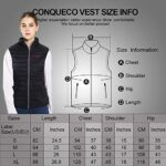 CONQUECO Heated Vest Slim Fit Electric Heating Gilet With Battery Pack in Winter Warm for Outdoor Camping Hiking Hunting 19