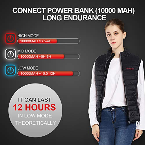 CONQUECO Heated Vest Slim Fit Electric Heating Gilet With Battery Pack in Winter Warm for Outdoor Camping Hiking Hunting 7