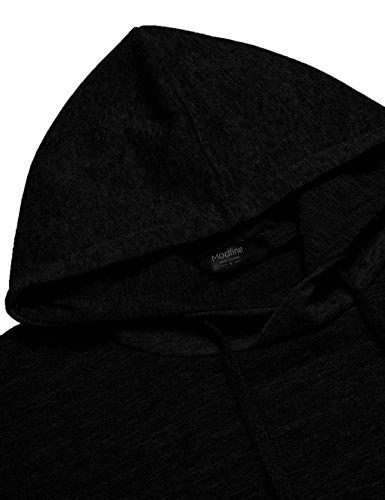 COOFANDY Men's Sweatshirt Hipster Gym Long Sleeve Drawstring Hooded Plaid Jacquard Pullover Hoodies 5