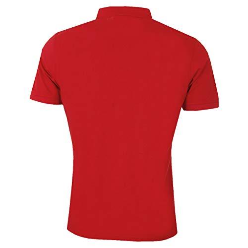 Calvin Klein Mens 2021 Campus 3 Button Light Ribbed Collar Golf Polo Shirt 3