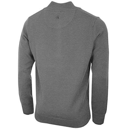 Calvin Klein Mens 2021 Knit Cotton 1/2 Zip Golf CK Top Sweater 4
