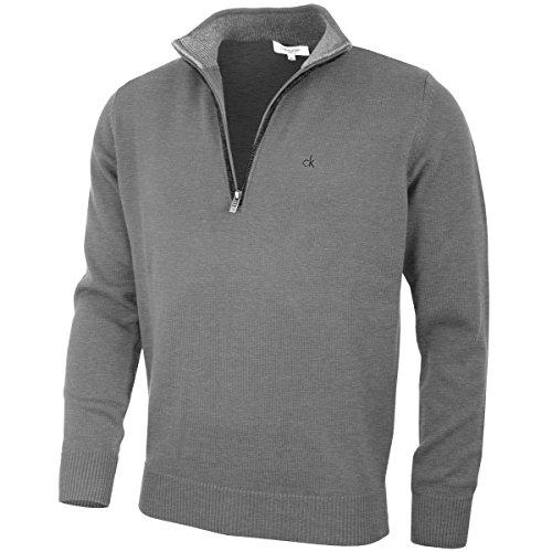 Calvin Klein Mens 2021 Knit Cotton 1/2 Zip Golf CK Top Sweater 1