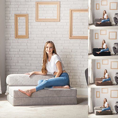 Changing Sofas Jumbo Cord Fold Out Sofa Bed Chair   Living Room and Sitting Room   Bounce Back Fabric Mattress   Great… 4