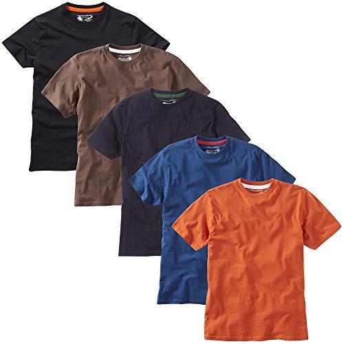 Charles Wilson 5 Pack Plain Crew Neck T-Shirt 5