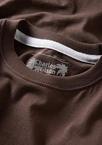 Charles Wilson 5 Pack Plain Crew Neck T-Shirt 7