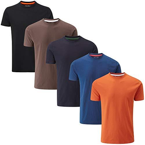 Charles Wilson 5 Pack Plain Crew Neck T-Shirt 1