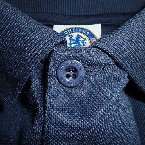 Chelsea FC Official Football Gift Mens Crest Polo Shirt 5