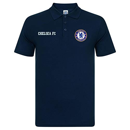 Chelsea FC Official Football Gift Mens Crest Polo Shirt 1