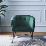Cherry Tree Furniture AURELIE Velvet Fluted Back Armchair Tub Chair (Burnt Orange) 18