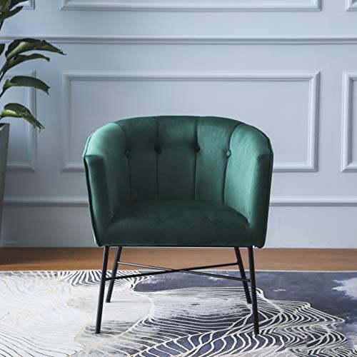 Cherry Tree Furniture AURELIE Velvet Fluted Back Armchair Tub Chair (Burnt Orange) 3