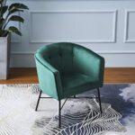 Cherry Tree Furniture AURELIE Velvet Fluted Back Armchair Tub Chair (Burnt Orange) 19